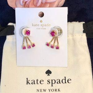 KATE SPADE Pink Sparkling Ear Jackets